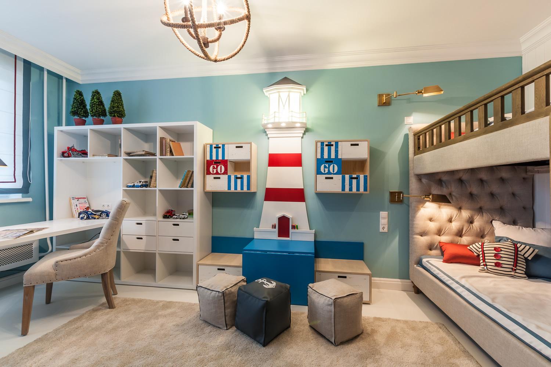 Дизайн детской комнаты для разнополых детей (52 фото) 57